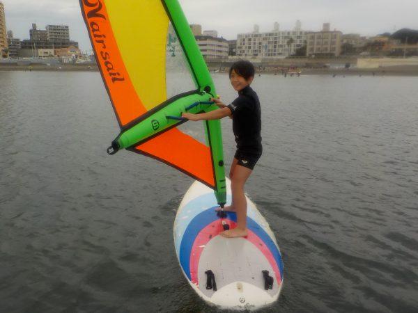 ウィンドサーフィンスクール by 10歳×2名