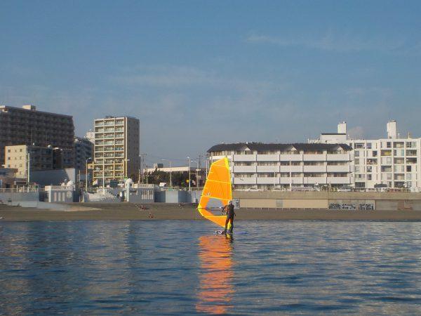 本日のウィンドサーフィンスクール