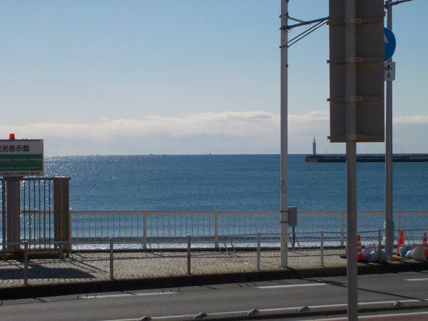穏やかな東浜!