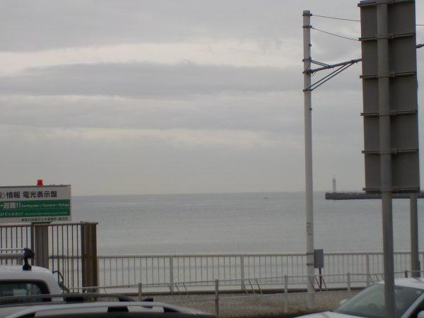 湖のような東浜・・・!